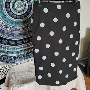 WHBM Sequin Polka Dot Skirt